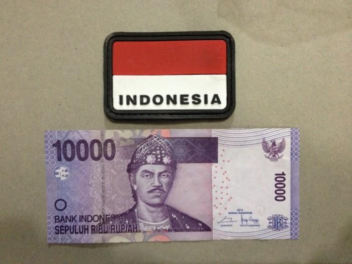harga Velcro rubber bendera ri untuk tempelan topi baju tas dan kaos polo Tokopedia.com