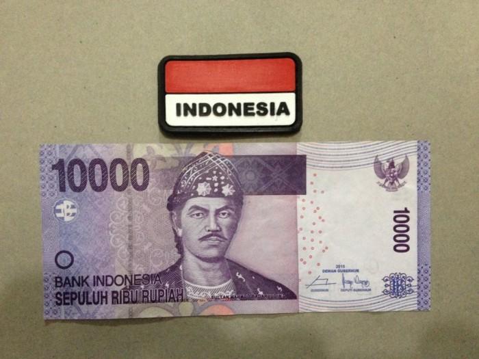 harga Velcro rubber bendera ri kecil untuk tempelan topi tas dan kaos polo Tokopedia.com