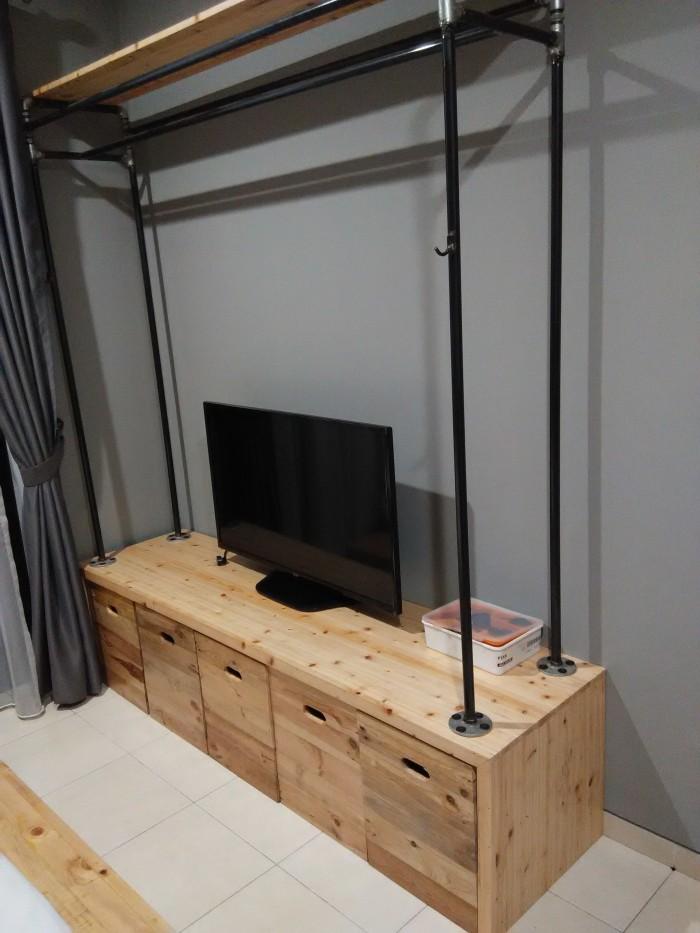 Meja Rak Tv Kayu Pallet Bisa Custom