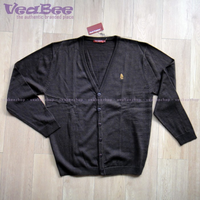Jual Cardigan Hush Puppies Sweater Dark Brown Original - VeaBee ... a927fb9a6a