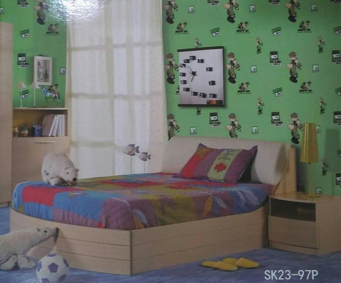 Wallpaper dinding motif Ben 10 / Wallpaper murah
