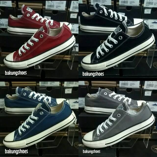 Jual Sepatu Converse Maroon grade ori - Hitam 7994d492ef