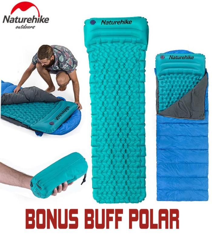 harga Naturehike inflatable sleeping pad bag / matras angin plus bantal Tokopedia.com