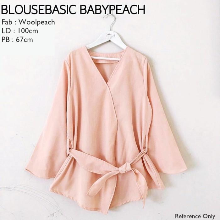 Blouse Basic Baby Peach Style Baju Hijab Ladies / Wanita