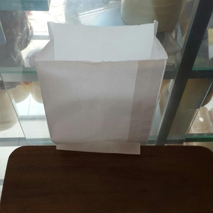 Paper Bag -Kantong Kertas- kantong kertas putih- Kantong Burger