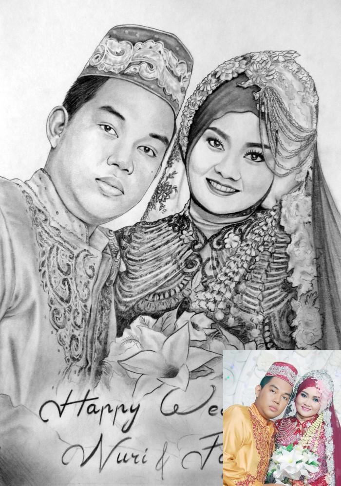 Jual Lukis Sketsa Atau Gambar Wajah Kado Pernikahan Dan Unniversary Kab Banjarnegara Polaris Art Tokopedia