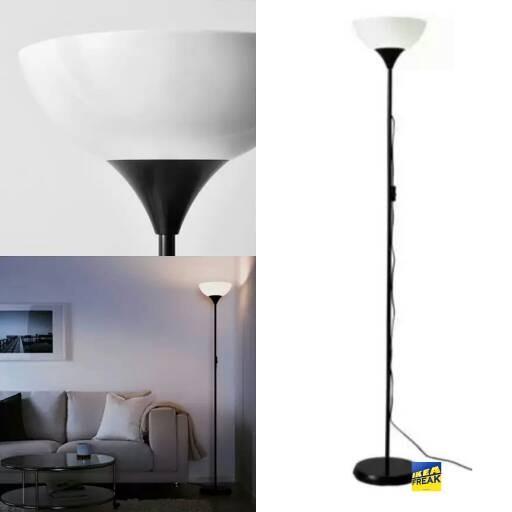 NOT, Lampu lantai sorot atas, hitam, putih