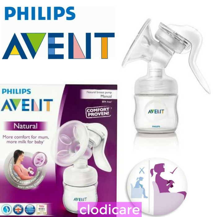 harga Philips avent natural breastpump pompa manual comfort plus bottle Tokopedia.com