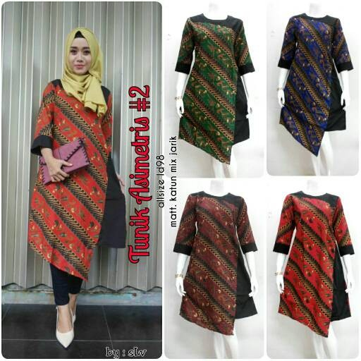 Batik Keris Solo 2017: Jual Dress Batik Solo. Tunik Batik Asimetris 2 Series