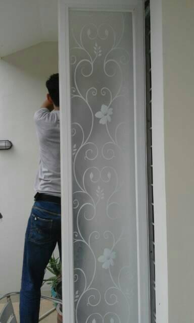 Jual Stiker Kaca Motif Batik Sticker Kaca Jendela Kamar Mandi Rumah
