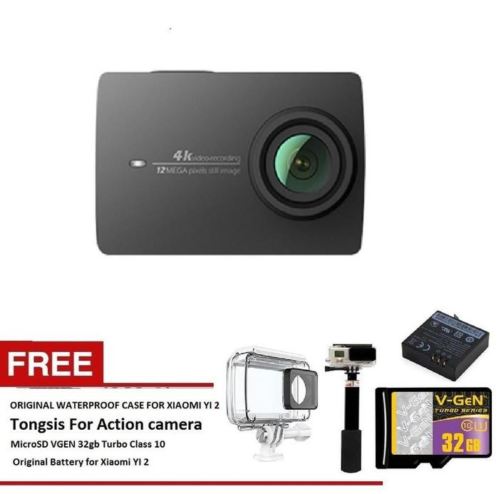 Xiaomi Yi 2nd Gen Action Camera With 4k - Hitam - International Versio .