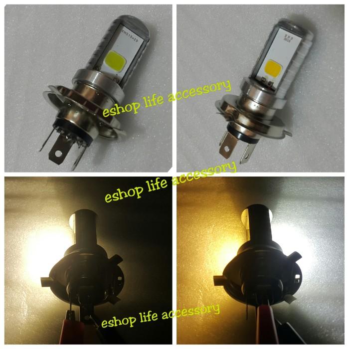 harga Lampu led h4 sinar kuning/ putih /headlamp depan utama vixion megapro Tokopedia.com