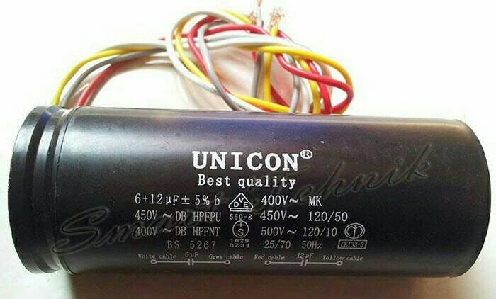 harga Kapasitor mesincuci 5+12 mikro unicon Tokopedia.com