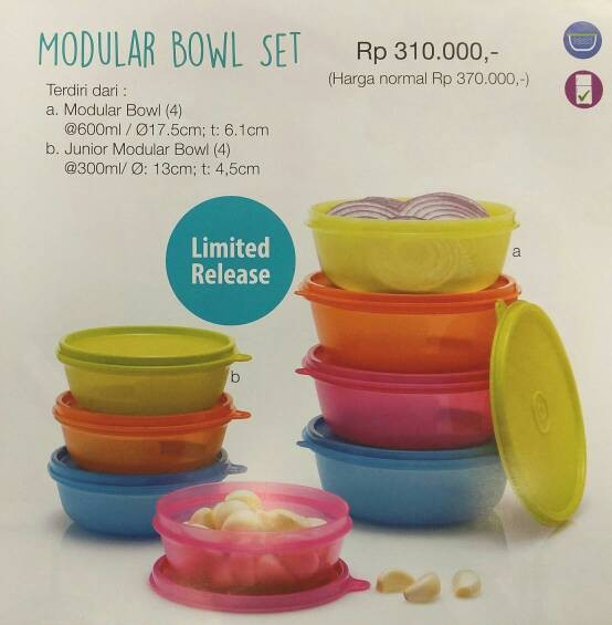 Tupperware Modular Bowl Set
