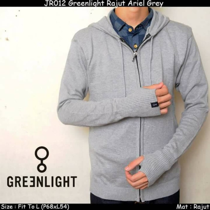 JAKET MURAH l SWEATER l GREENLIGHT l RAJUT ARIEL - GREY