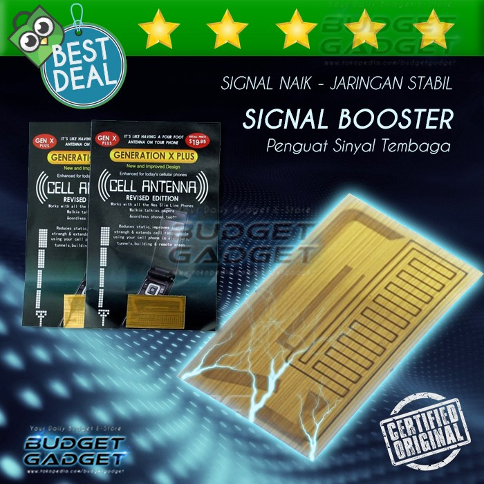 Foto Produk Penguat Sinyal/Signal Booster for Smartphone and Modem. (Anti Static) dari BudgetGadget