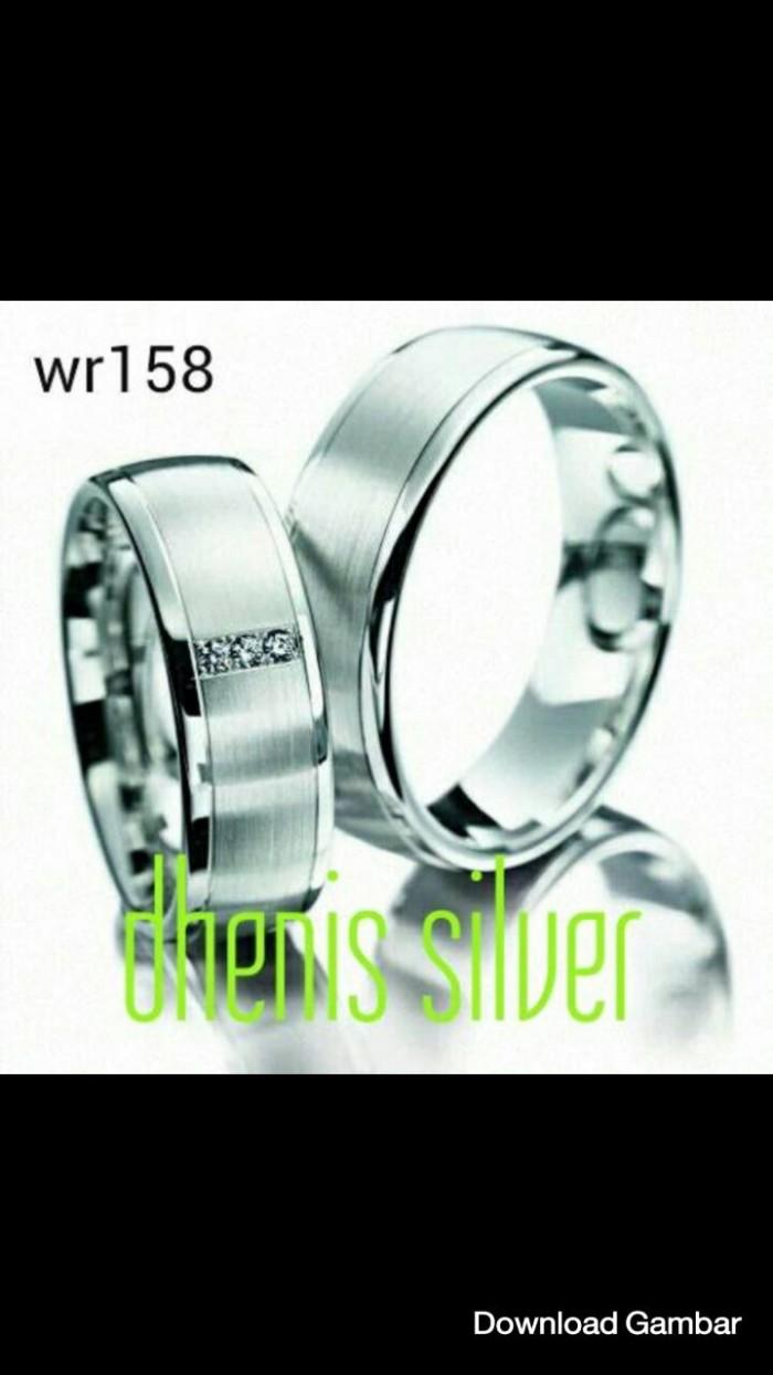 Jual Cincin Kawin Nikah Tunangan Pasangan Couple Perak Lapis Emas Putih Kota Yogyakarta Dhenis Silver