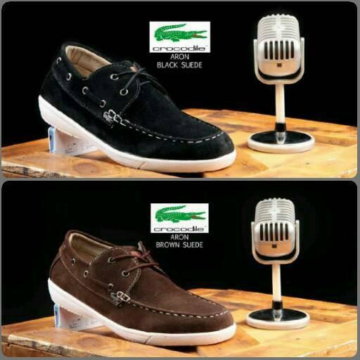 harga Sepatu casual pria crocodile suede black & brown Tokopedia.com