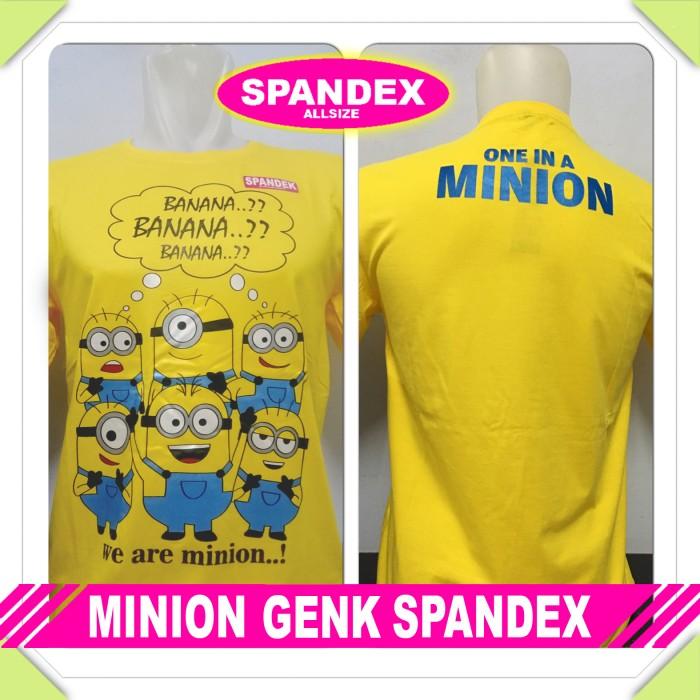 harga Atasan Baju Pria Anime/kartun Minion Genk Spandex Despicable Me Tokopedia.com