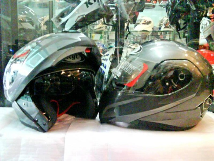Jual Helm KYT RRX Solid Modular Visor Flip Up Fullface