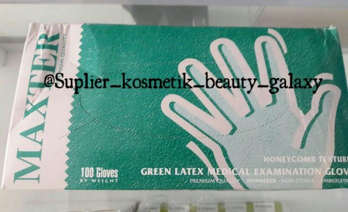 Sarung Tangan Latex/Handscoon/Medis/Non Steril Gloves/Peppermint - BOX