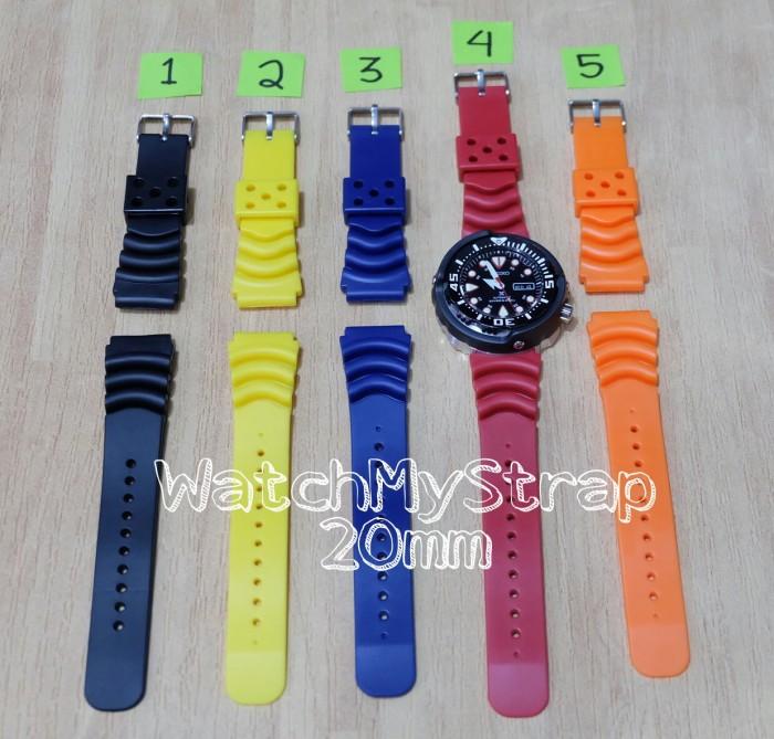 Jual 20mm rubber strap - tali jam tangan karet AM Z22 for seiko ...