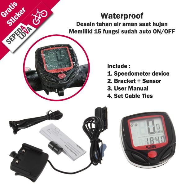 harga Speedometer sepeda digital 15 fungsi waterproof sunding Tokopedia.com