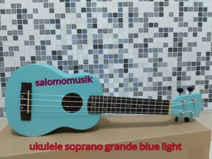 harga Ready ukulele / okulele / uke soprano 21' grande hijau telur asin +tas Tokopedia.com
