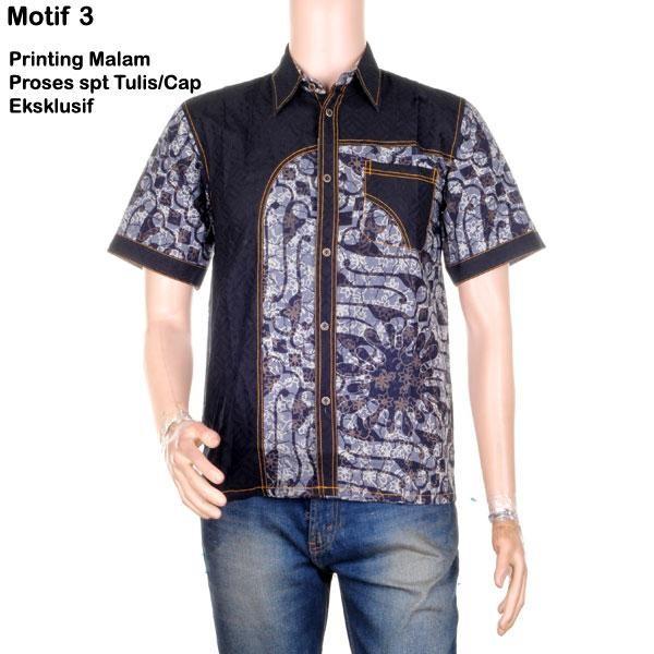 harga Kemeja batik kombinasi embos printing malam priyo - motif 3 Tokopedia.com