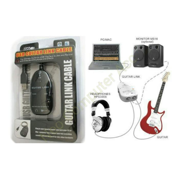 harga Usb guitar link cable / usb guitar link kabel Tokopedia.com
