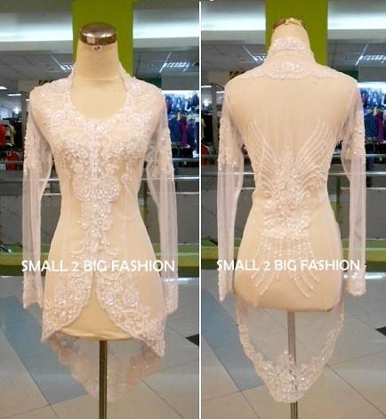 kebaya akad nikah   kebaya modern panjang putih   kebaya pengantin 0455c2448d