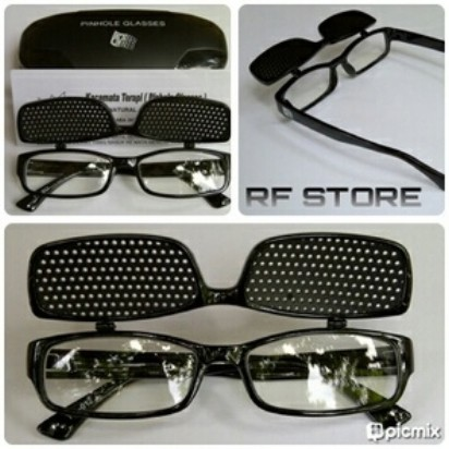 Jual Kacamata Pinhole Terapi 12 Clip On Bolong-Bolong Mata Minus ... df1656d5f7