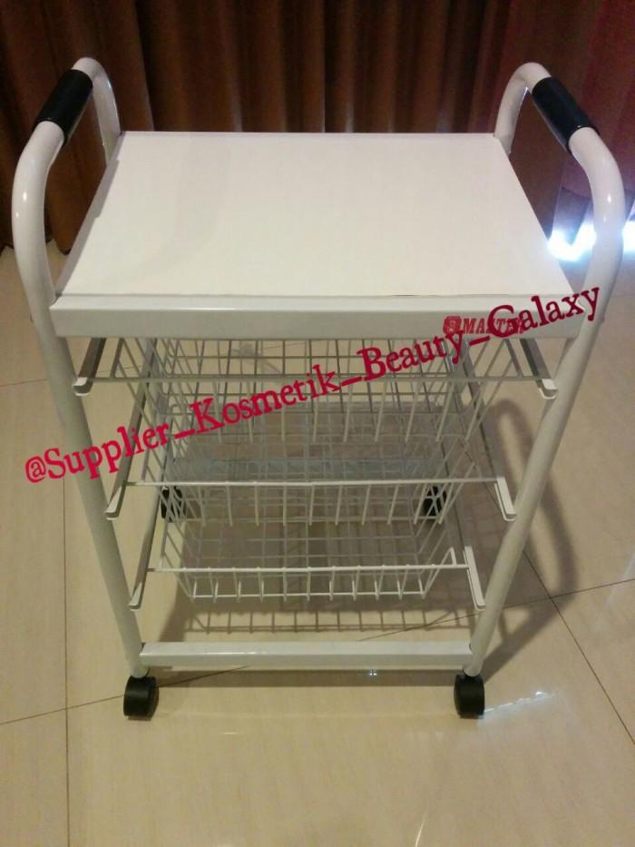 harga Rak facial/rak salon/rak dorong/rak beauty/troli/trolley/troly 4 susun Tokopedia.com