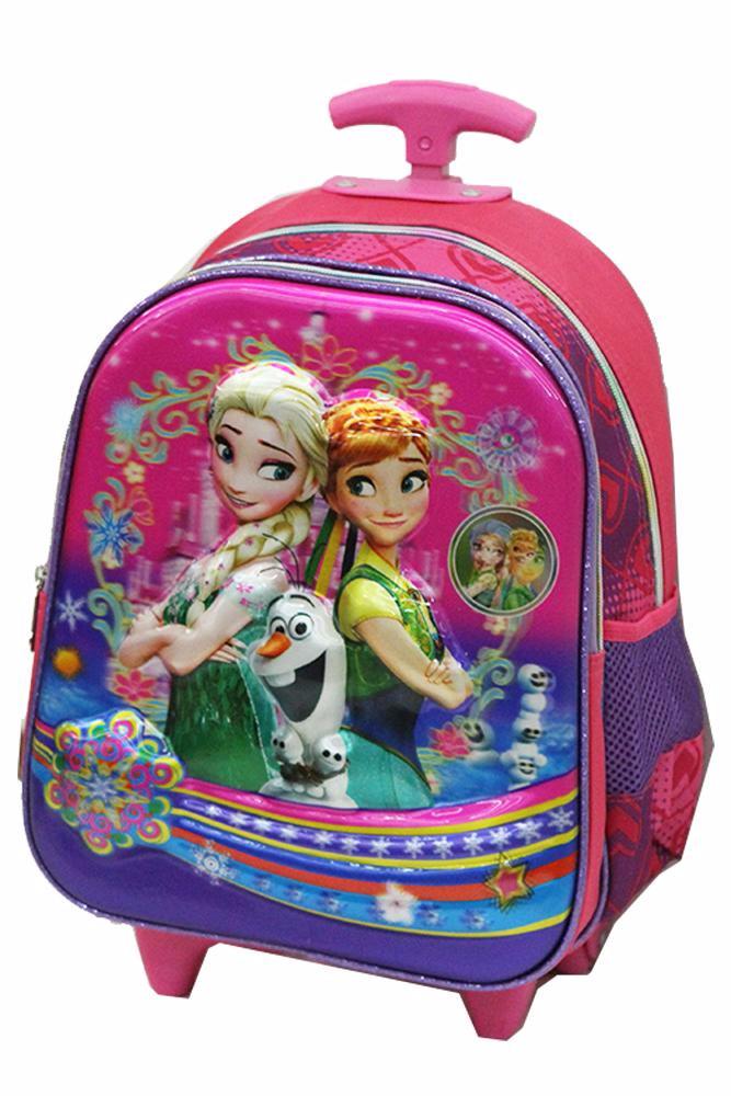 (BARU) Tas Trolley Anak Tk Import - Disney Frozen Fever 5d Timbul Holo