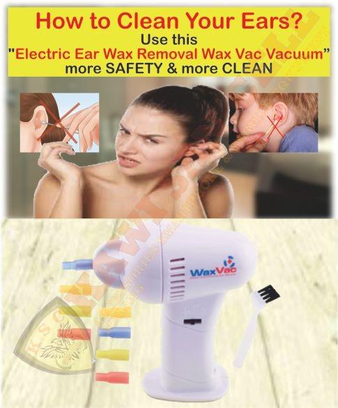 Electric Ear Wax Vacuum Vac Wax Removal / Pembersih Telinga - MALANG