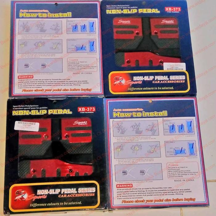 harga Non slip car pedals injakan gas rem kopling mobil set ready install Tokopedia.com