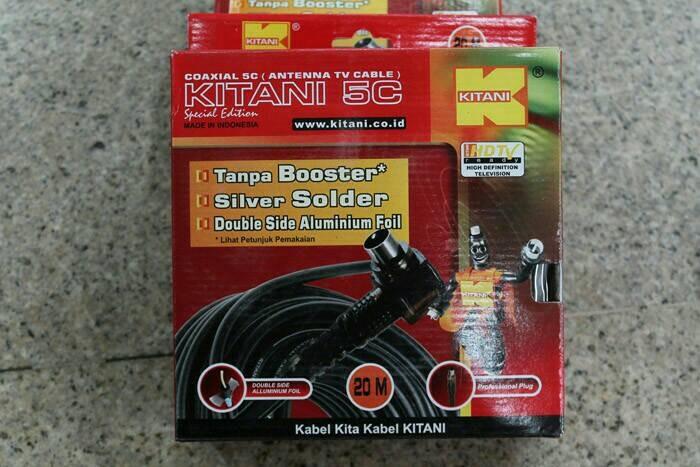 harga Kabel antena tv tanpa booster kitani 5c panjang 20m merk kitani Tokopedia.com
