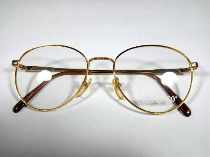 Jual Kacamata Antik Jadul Vintage Original HETRINCO Retro Round Gold ... a4f423e87e