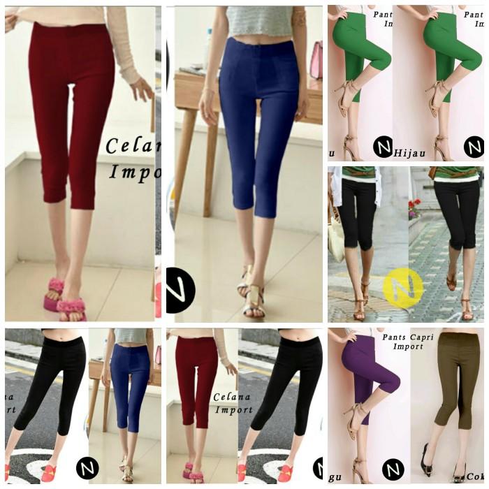 Jual Celana Legging Jeans Pendek 7per8 Jakarta Utara Tian Olshop Tokopedia