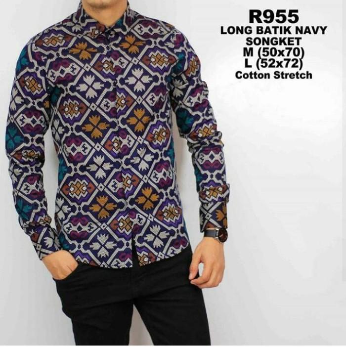 Jual Baju Batik Kemeja Pria Lengan Panjang  Kemeja Batik Keren