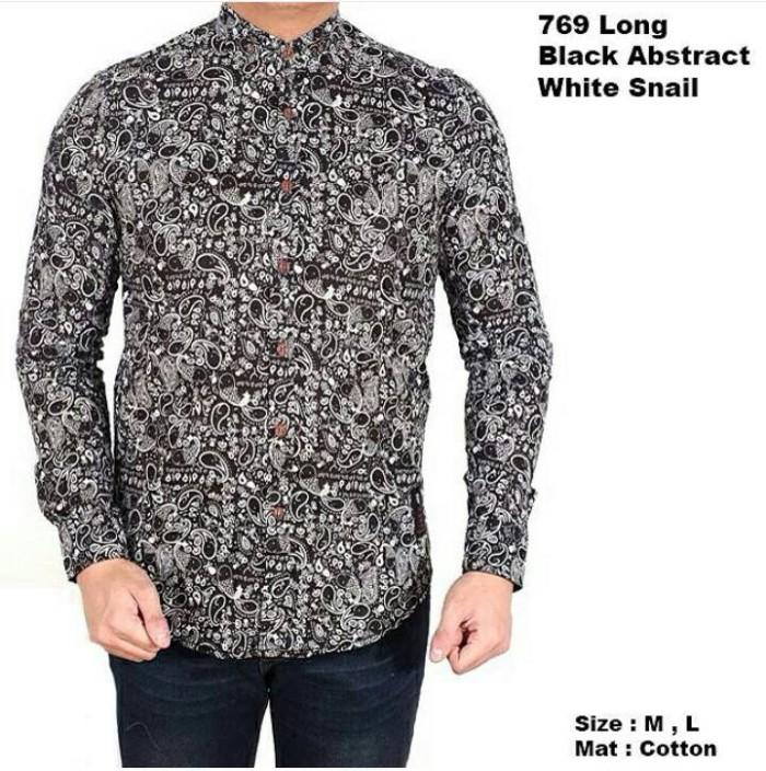 Jual Baju Kemeja Batik Pria Lengan Panjang  88fcf0392c