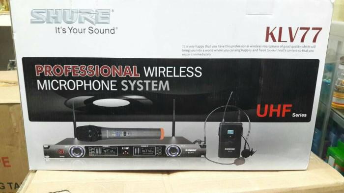 harga Wireless microphone klv 77 uhf Tokopedia.com