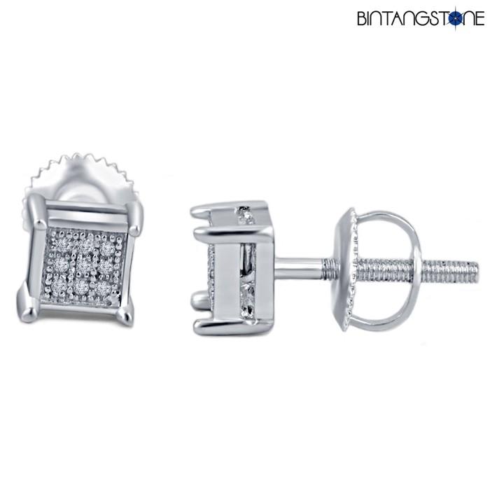 harga 14k whitegold 0.07ct anting natural diamond berlian asli eropa earring Tokopedia.com