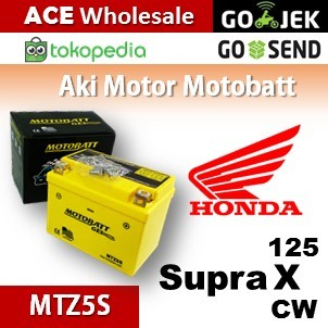 harga Aki honda supra x 125 cw motobatt mtz5s/ kering motor u/ gs yuasa Tokopedia.com