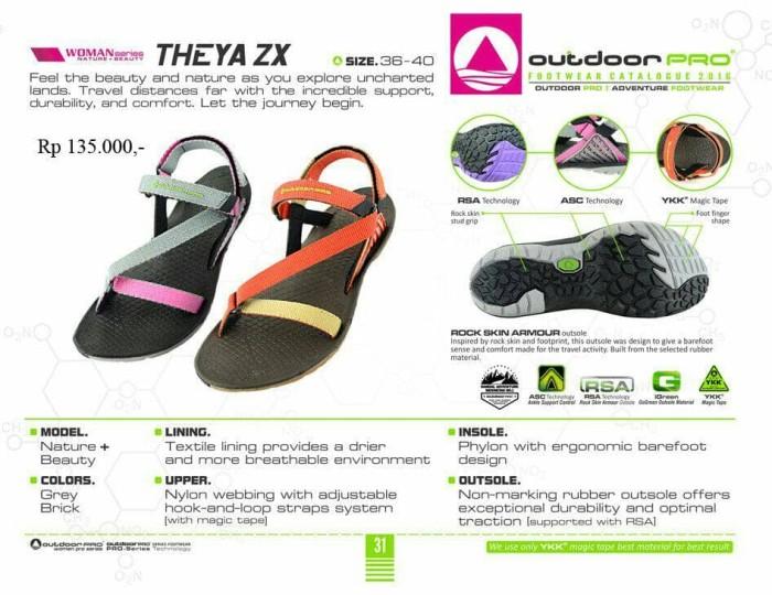 harga Sandal gunung outdoor pro wanita seri theya zx grey Tokopedia.com