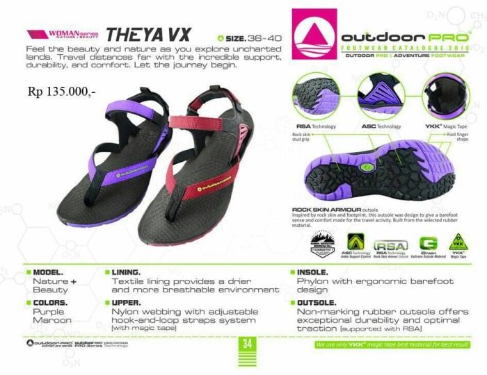 harga Sandal gunung outdoor pro wanita seri theya vx maroon Tokopedia.com