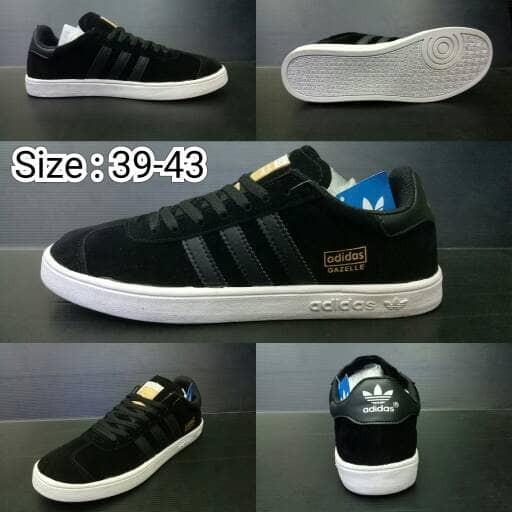 harga Sepatu Sneakers Casual Adidas Gazelle Hitam Man Cowok Pria 39 - 43 Blanja.com
