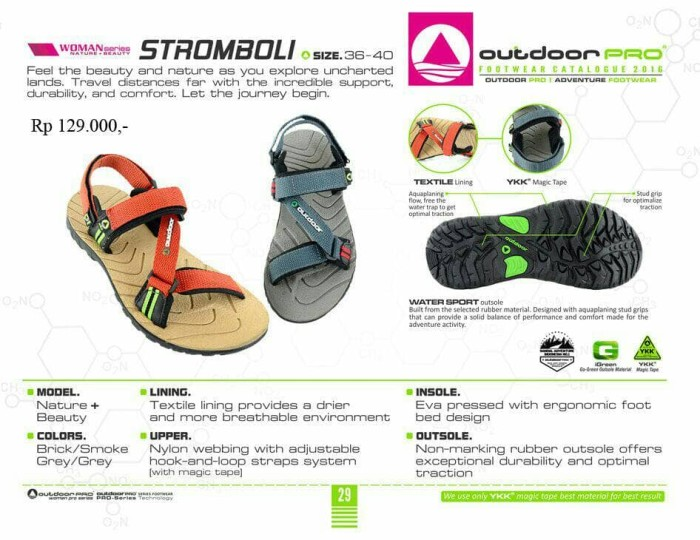 harga Sandal gunung outdoor pro wanita seri stromboli grey Tokopedia.com