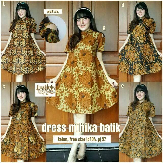 Dres mihika batik
