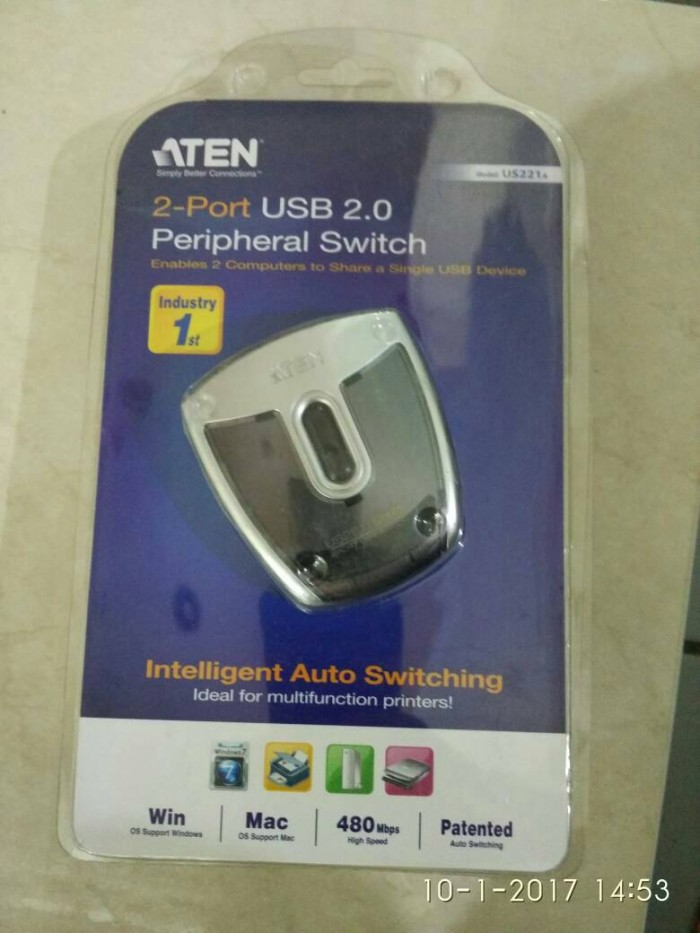 harga Aten us221a 2 pot usb peripheral switch Tokopedia.com